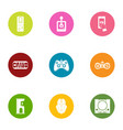 games hookup icons set flat style vector image vector image