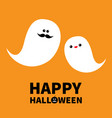 ghost spirit family set with lips mustaches vector image vector image