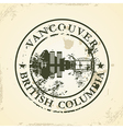 Grunge rubber stamp with Vancouver British vector image