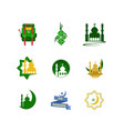 happy eid mubarak icon stock vector image vector image