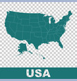 high detailed map - united states usa flat vector image vector image