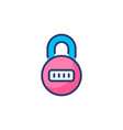 home lock icon in logotype vector image vector image