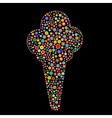ice cream shape vector image vector image