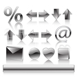 icons high detailed set vector image vector image