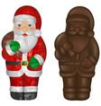Isolated chocolate santa claus