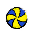 isolated volleyball ball icon vector image