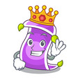 king magic carpet with a banner cartoon vector image