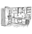 Kitchen interior drawing
