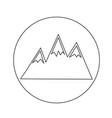 mountains icon design vector image