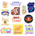 music lettering musical typography graphic vector image vector image