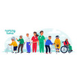 nursing home concept group elderly people and vector image vector image