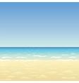 Ocean sand beach vector image vector image