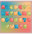 plump handwritten alphabet colorful set vector image vector image