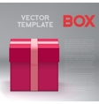 Realistic 3D Present Box Birthday vector image vector image