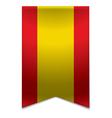 Ribbon banner - spanish flag vector image
