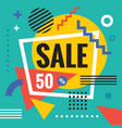 sale discount - abstract concept banner vector image vector image