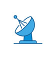 satellite antenna dish concept blue icon