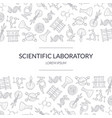 scientific research banner template with vector image