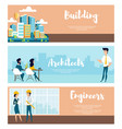 set of the layout of the city and the architect vector image vector image
