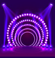 show light podium purple background vector image vector image