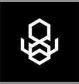 simple abw awb aow initials geometric shape logo vector image