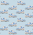 sneaker shoe seamless pattern consept fashion vector image