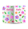 spring sale text design card paper cut out book vector image