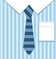 striped shirt vector image vector image