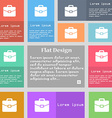 suitcase icon sign Set of multicolored buttons vector image vector image