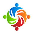 Team together 4 logo design element vector image vector image