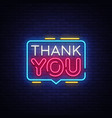 thank you neon text thank you neon sign vector image vector image