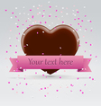 Valentines day chocolate sweet heart vector image vector image