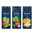 Vegetables sketch Vegetarian vegetable banners vector image vector image