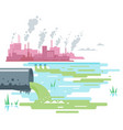 wastewater discharge from plant vector image vector image