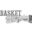 what could i set up in a food gift basket text vector image vector image