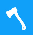 white axe on blue vector image vector image