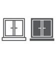window line and glyph icon architecture and home vector image