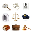 Law Legal Icons Set vector image