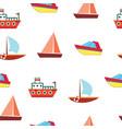 ships and boats - sea seamless pattern vector image