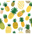 seamless pattern with ananas vector image