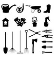 set of various gardening items and garden vector image