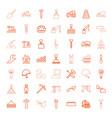 49 build icons vector image vector image