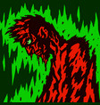 a wounded zombie walks with his head tilted vector image vector image