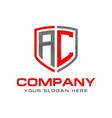 ac logo vector image vector image