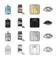 apparatus medical bottle and other web icon in vector image vector image