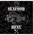 Banner with fish for the restaurant menu vector image