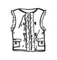 beautiful warm waistcoat vector image vector image