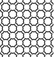 Black and white seamless curved octagon pattern vector image