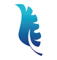 blue silhouette flat exotic leaf plant design vector image vector image