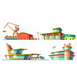 bus and train stations airport sea port vector image vector image